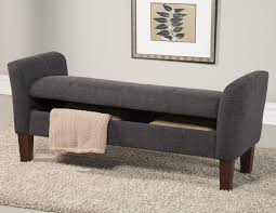 grey fabric storage bench  stealasofa furniture outlet los