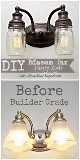 mason jar lights diy mason jar vanity light diy ideas with mason jars for