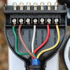 socket pinout wiring 7 pin flat