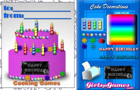 decorate a birthday cake a free girl game on girlsgogames com
