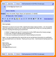 Cover Letter For Email Resume Attachment Free Resume Example And