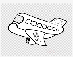 Airplane Clipart No Background Black And White Airplane Clipart Airplane Aircraft Paper Airplane