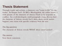 how does character reveal theme ppt video online  7 thesis statement