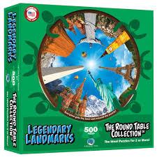 legendary landmarks round table puzzle jungle animals jigsaw puzzle