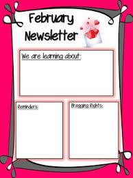 February Newsletter Template February Newsletter Printable Worksheets Teachers Pay