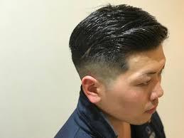 七三分けfadeスタイルですsalon Leh Beauty所属村上快のヘア