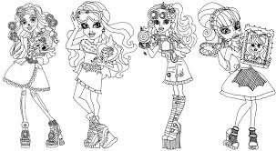 Small Picture Monster High Coloring Pages Art Class Sheet Gekimoe 111972