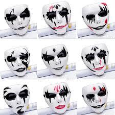 Mask Designs Full Face Coxeer 12pcs Halloween Masks Creative Clown Design Full Face