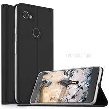 ivso flip stand magnetic adsorption leather case with card holder for google pixel 2 xl
