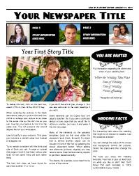 Custom Newspaper Template Free Newspaper Templates Print And Digital Makemynewspaper Com