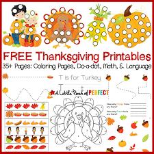 free thanksgiving printable activity pack including coloring pages do a dot math and age