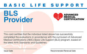 Types Of Medical Certifications Online Bls Certification Recertification For Life Options