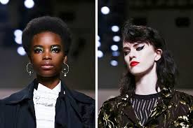 at thursday s creatures of the wind runway show the makeup artist aaron de mey took inspiration from federico fellini and siouxsie sioux