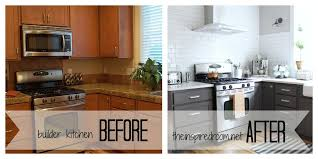 paint kitchen cabinets before and afterKitchen  Wonderful Painted Kitchen Cabinets Before And After Grey