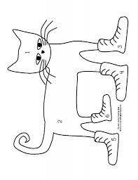 Pete The Cat And His Four Groovy Buttons Coloring Page For Pete The