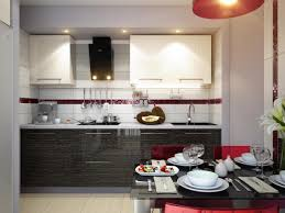 Red And Black Kitchen Black And White Kitchen With Red Accents House Decor