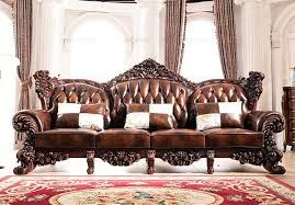 luxury leather furniture latest design luxury wooden carving frame leather sofa set view wooden sofa set luxury leather furniture