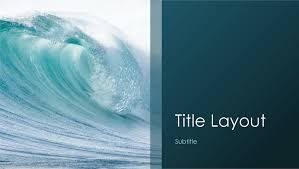 wave powerpoint templates ocean waves nature presentation widescreen office templates