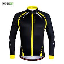 <b>WOSAWE</b> Thermal <b>Cycling Jackets</b> Yellow Windproof Long Sleeve ...