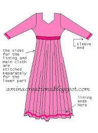 Anarkali Measurement Chart Amina Creations How To Stitch Anarkali Suits Sewing Basics