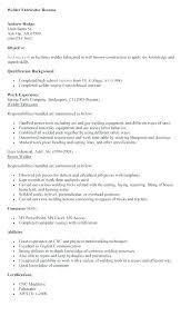 Welder Resume Awesome Fabricator Sample Resumes Mesmerizing Sample Resume Of Welding