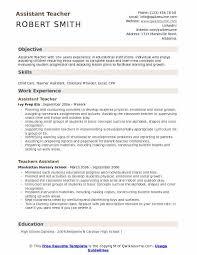 resume for teachers assistant assistant teacher resume samples qwikresume