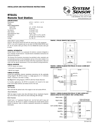 system sensor rts user manual pages