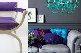 Purple Turquoise And Grey Living Room Gull