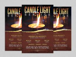 Christian Flyer Templates Candle Light Service Flyer Template Flyer Templates Creative Market 1