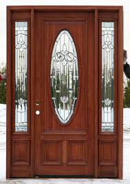 amazing vertical oval frosted window glass and wooden front doors with white knob door