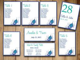Peacock Wedding Seating Chart Template By Paintthedaydesigns