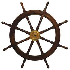nautical wooden ships wheel wall art a021 the home depot