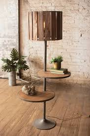 15 rustic floor lamp with shallow shelves 2245e3c51d234c68db6f8387c398