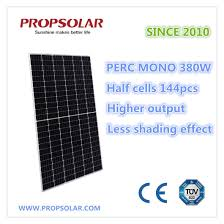 China Perc High Efficiency Half Cells 380W Photovoltaic Solar ...