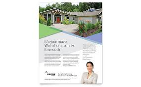 Word Flyer Template Real Estate Marketing Brochures Flyers Postcards