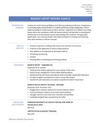 Sample Resume For Makeup Artist Makeup Artist Resume For Mac Objective Examples Retail Sample 8