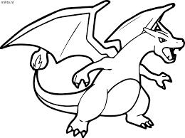Militonl Pokemon Charizard Kleurplaat Norskiinfo