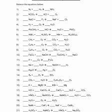 balancing chemical equations worksheet 1 answers worksheet resume