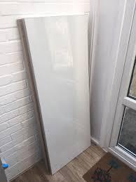 White Gloss Kitchen Worktop 38mm Laminate Square Edge Kitchen Worktop L1500mm D600mm