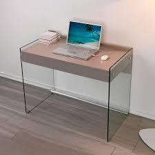Scrivanie porta computer design moderno mobiletti in vetro per pc