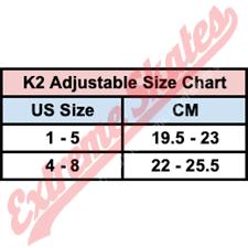 K2 Adjustable Size Chart Extreme Skates Online