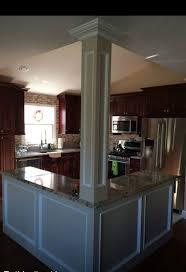 Amazing Open Floor Plan Kitchen, Knock Down Walls, L Shaped Island, Column Design Inspirations
