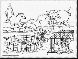 Zoo Animals Coloring Page Preschool In Funny Simplistic Sheet