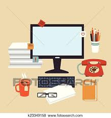 secretary desk clipart. Contemporary Desk Clip Art  Secretary Desk Illustration Fotosearch Search Clipart  Illustration Posters Drawings For Clipart E