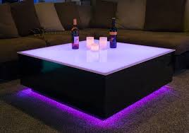 coffee table with led lights elegant cubix series 44 x led lighted lounge furniture intended for 11