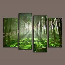 digital print 7 piece canvas wall art home forest decoration painting pictures living room home modern on 4 piece canvas wall art with wall art designs stunning painted 7 piece canvas wall art with