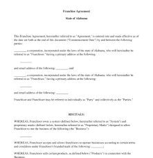 Franchise Agreement Sample Magdalene Project Org