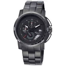kenneth cole new york mens chronograph black ionplated stainless gallery