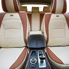 details about car suv truck pu leather seat cushion covers full set