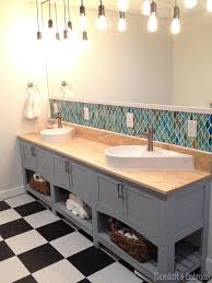 style bathroom lighting vanity fixtures bathroom vanity. DIY Shaker-style Bathroom Vanity {Sawdust And Embryos} Style Lighting Fixtures